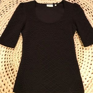 Anthropology- Perfect Black Top!